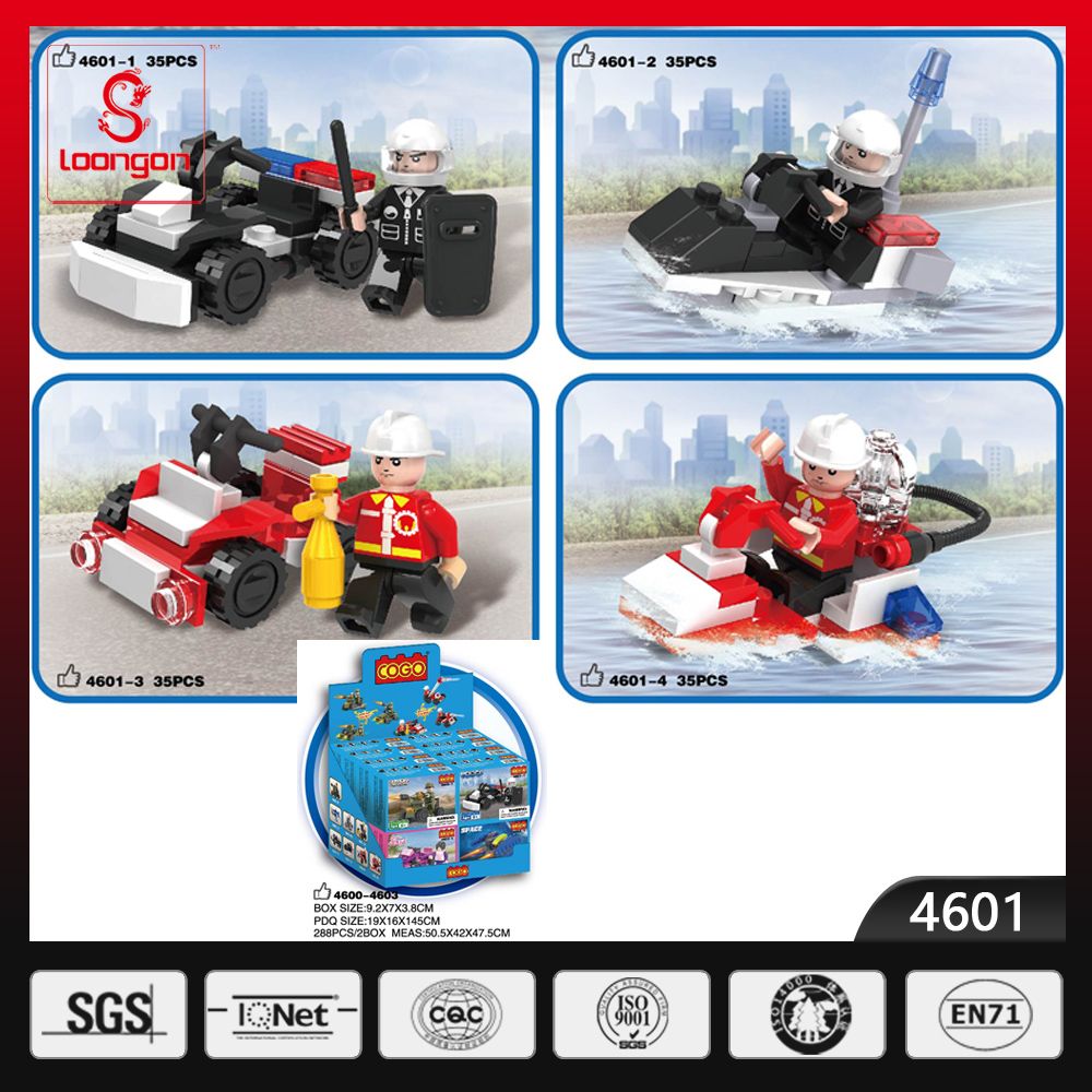 COGO Policemen series plastic kids building blocks toys