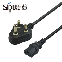 SIPU manufacturer good price 3 pins lead cord indian type 3x16mm2 power cable