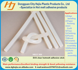 White transparent Ethylene Vinyl Acetate(EVA) resin based Strong adhesion and yellowing resistance hot melt adhesive glue stick
