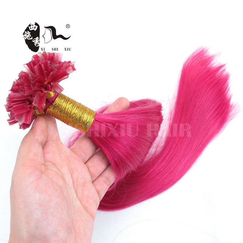 XISHIXIU HAIR 7A Quality Fast delivery factory wholesale hot pink human hair