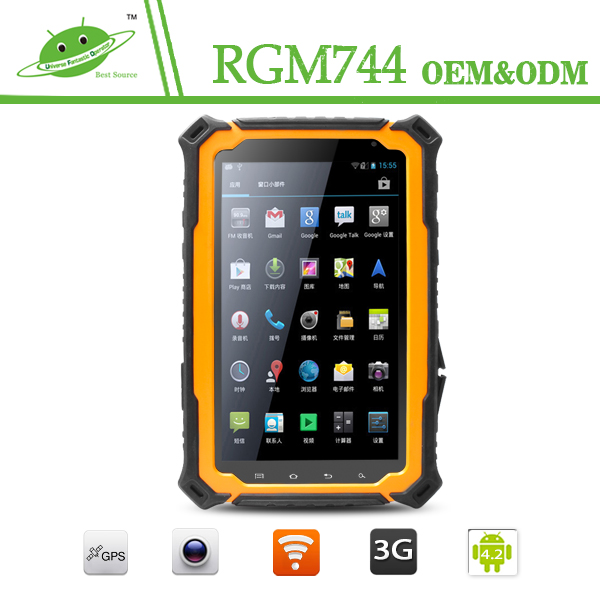 IP67 Quad Core GPS Rugged tablet pc 7 inch IPS touch screen GSM+3G Bluetooth T70H waterproof tablet