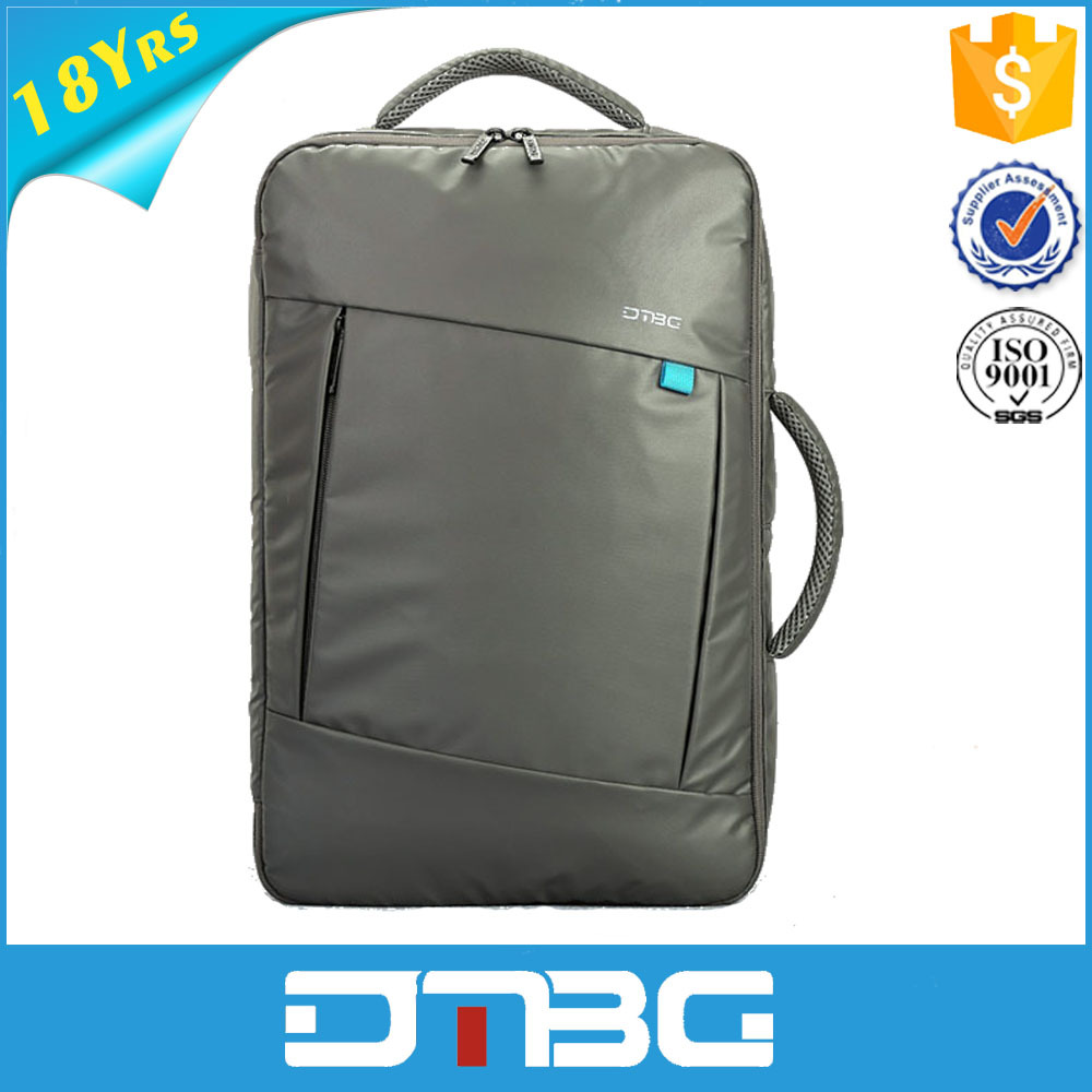 Leather school backpack laptop trolley bag