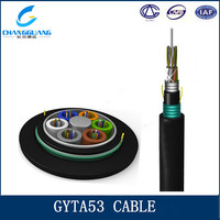 GYTA53 Stranded Loose Tube Armored Fiber Optic Cable 13.9-20.2mm od fiber optic cable