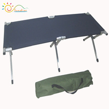 Outdoor foldable beach bed military metal bed frame military folding chair fold metal bed