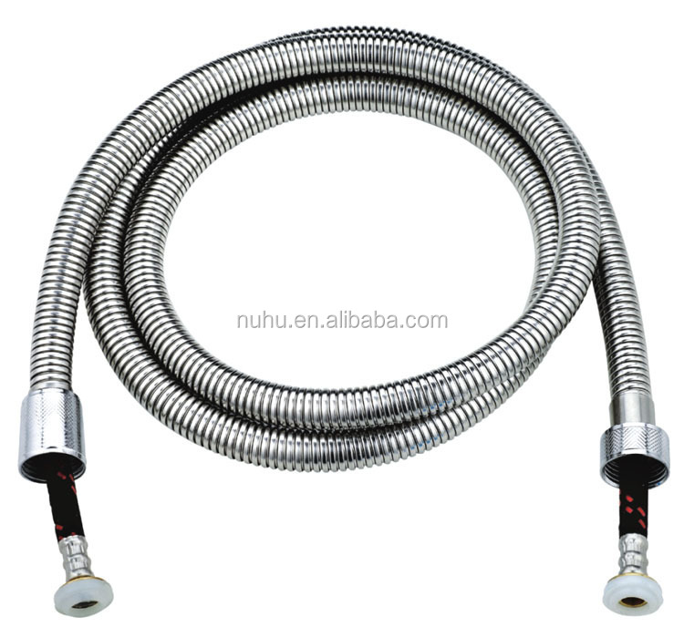 Stainless steel flexible hose with EPDM inner hose and brass fittings