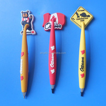 Ottawa Construction Zone Bear Maple Soft PVC Magnetic Ball Point Pen