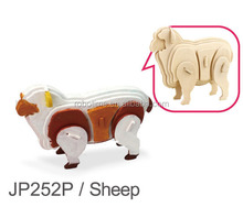 Handcraft sheep model 3D wooden puzzle