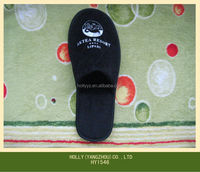 Hot Sales Closed Toe Black Hotel Bedroom Slippers for Men