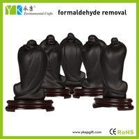 Wholesale 5 pieces per set China religious craft polyresin standing laughing buddha statues for sale