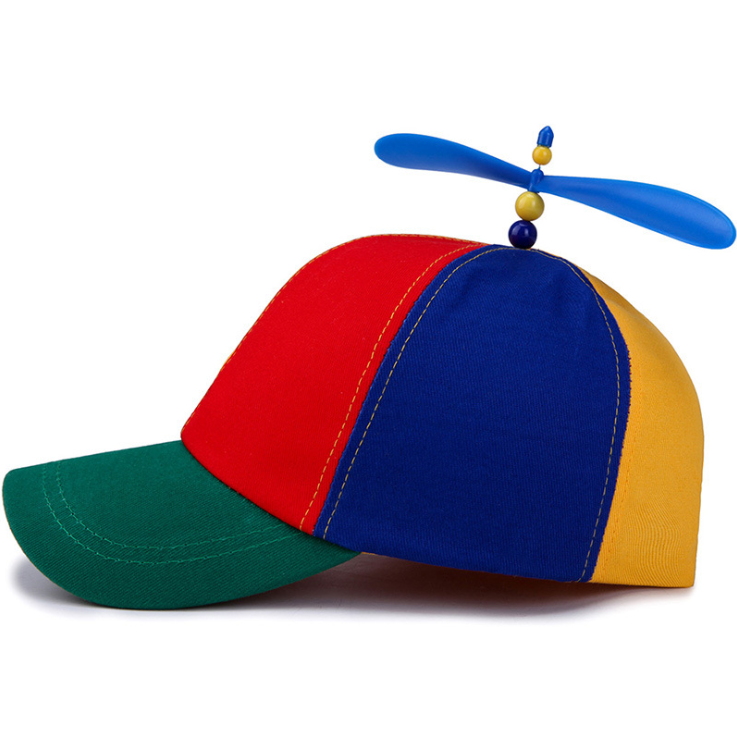 New arrival Novelties gift colored 100% cotton party holiday propeller <strong>hats</strong> have stock