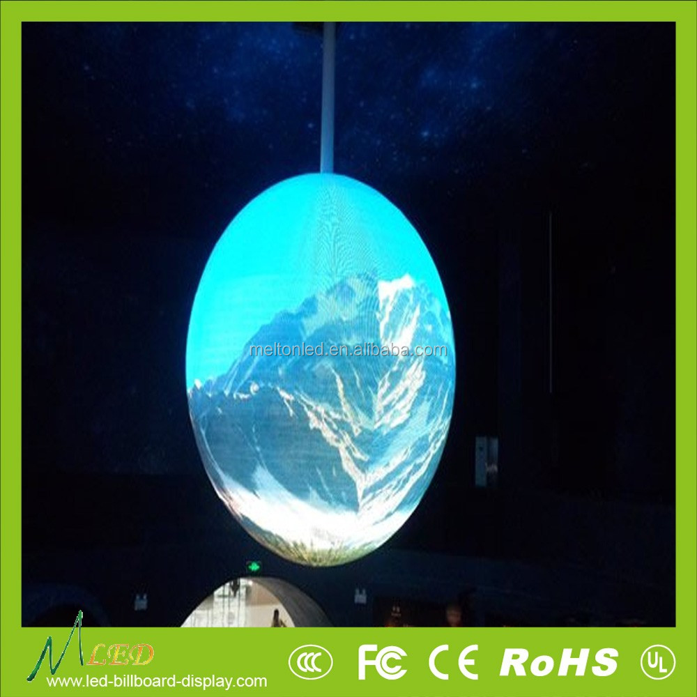 CE RoHS ETL Full Color Soft Bendable Cylinder Curved Surrounding Wave P6 P8 P10mm Outdoor Flexible LED