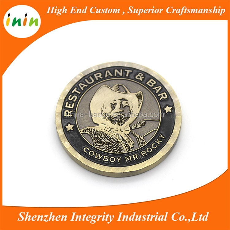 custom silver token antique challenge coin