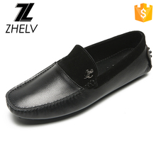 Guangzhou Shoes Manufacturer Latest Man Casual Flat Genuine Leather driving shoes loafers shoe for men