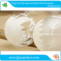 promotion christmas decorations plastic ball 8cm transparent coloured drawing christmas ball Low price clearance sale