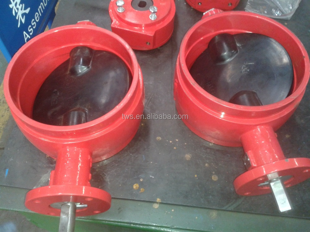 A536 Gr.65.45.12 Grooved Butterfly valve for Fire Fighting