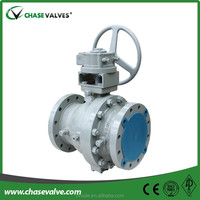 2 piece full bore flanged ball valve with cast steel from China