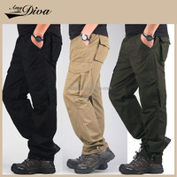 Latest new design high quality pure cotton six pockets sweetpants mens cargo pants trousers