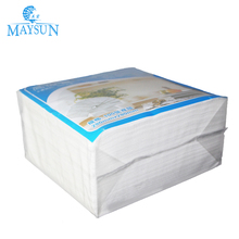 White printed paper embossing napkin