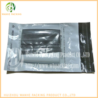 Printed Plastic mailing bag for Packing list/adhesive transparent pouch