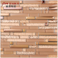 Modern style rose gold colco stainless steel mosaic tile brick