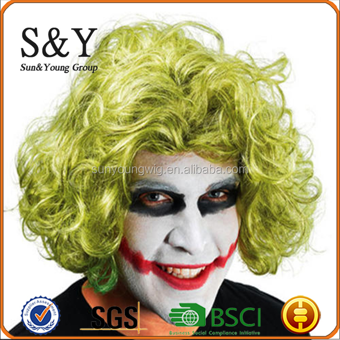 Wholesale Halloween shocking scary clown short wig for halloween party