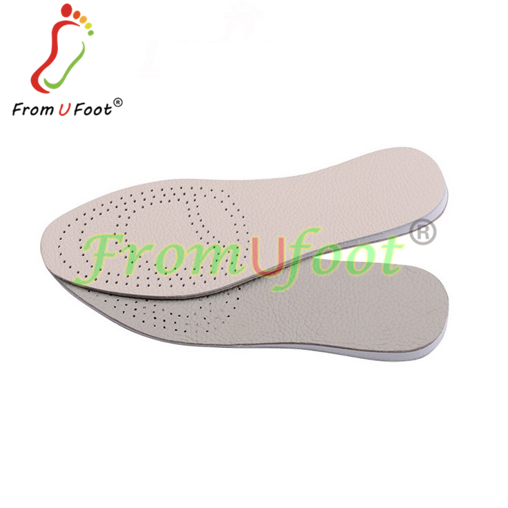 Genuine Leather Material Insole Height Increase Insoles Handcrafted Thin Breathable Cushioning Deodorant Full Length Leather