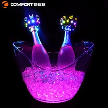 Plastic boat shape wine beer led ice tub