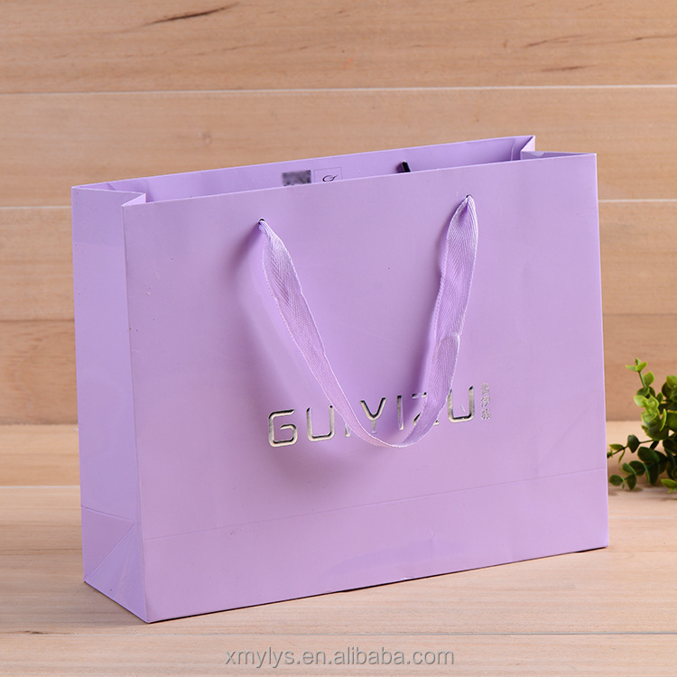 Custom glossy lamination/matte lamination surface handling and shopping /gift /promotion/packaging Industrial Use Paper Bag