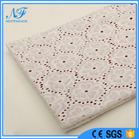 2015 developed 100% cotton tulle embroidery crochet lace fabric