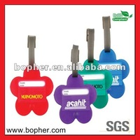 creative plastic luggage tags bright color