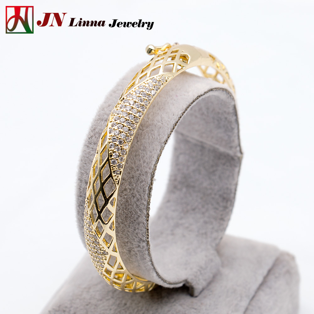 JN5014 fashion ladies jewelry new deign copper 14K 18K gold silver plated bracelets