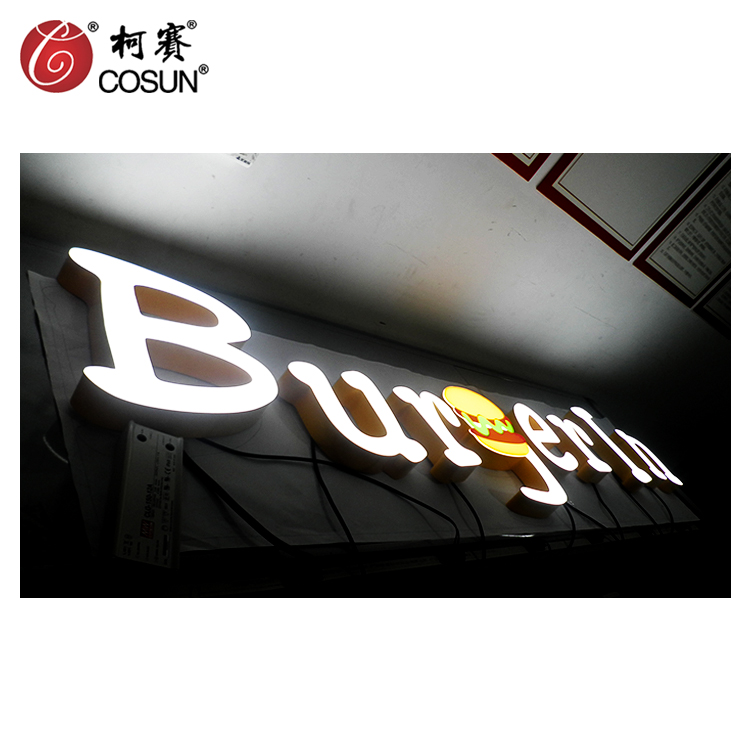commercial rimless led signs led grow light illuminated acrylic letter signs