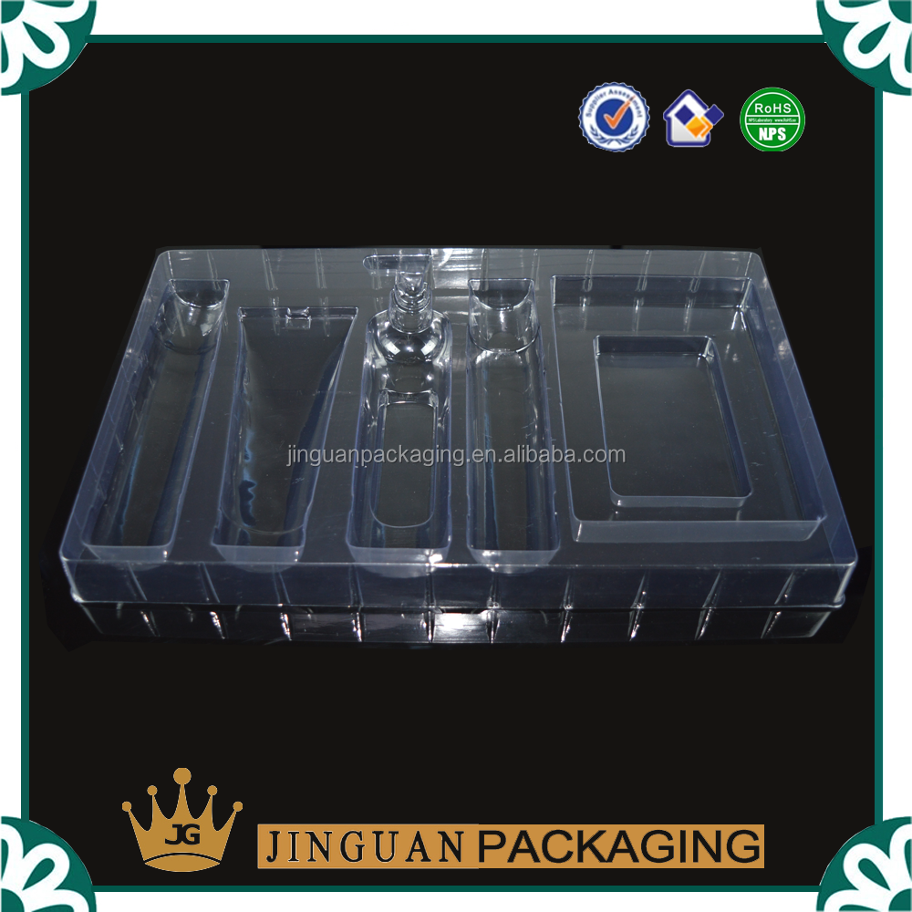 Plastic Cosmetic Blister Tray, Personal Care Sets Tray Packaging
