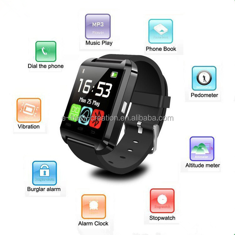 Hot Sale High Quality U8 android smart watch tablet screen xiaomi mobile watch phones
