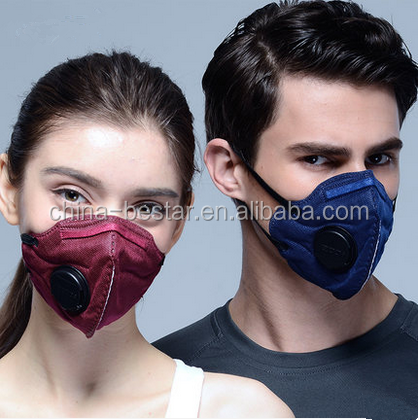 Head tie air pollution dust mask with valve with factory price hot selling in Poland