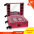 New design Leather trolley makeup case with lights lighted professional makeup cases beauty case