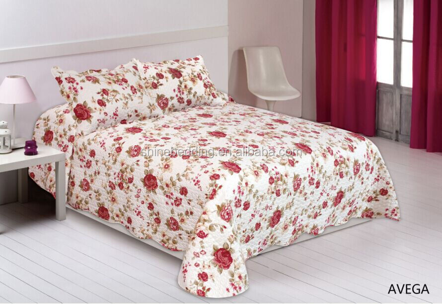 best selling quilted printing patchwork bedspread