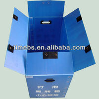 Custom printing corrugated plastic corflute packaging box manufacturer