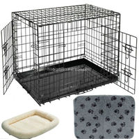 Foldable wire pet cage