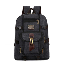 Canvas Backpack Unisex Outdoor Travel Casual Shoulder Bag Laptop Backpack
