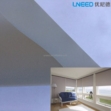 High Quality 100% Blackout 0.38mm Grey PVC Fiberglass Sunscreen Fabric For Hotel/Home Curtain Sunshade And Decoration