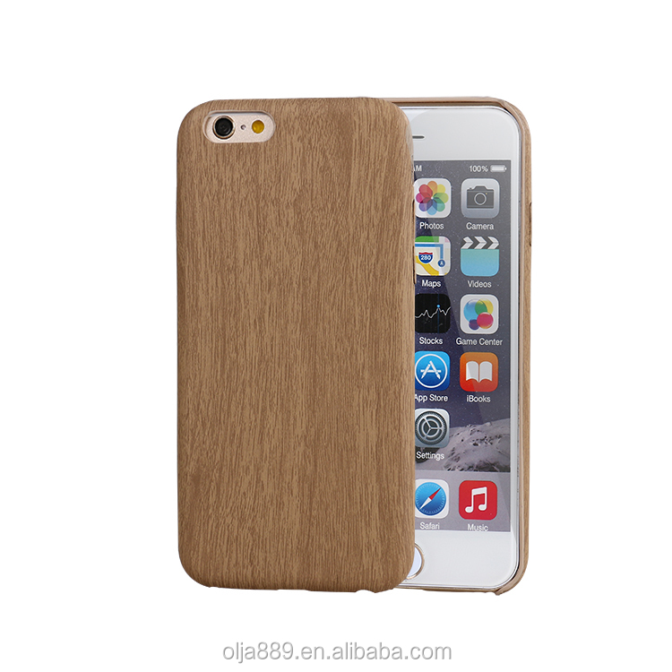 high quality leather pu soft wood case for iphone 7 colors optional