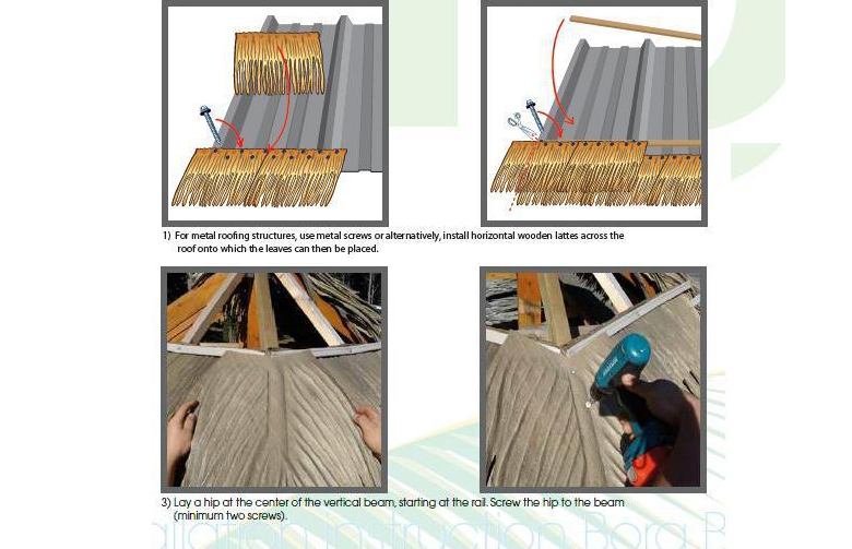 Low price available for occasion thatch roof materials