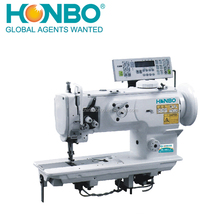 HB-1508 foot double single needle compound feed leather sofa sewing machine
