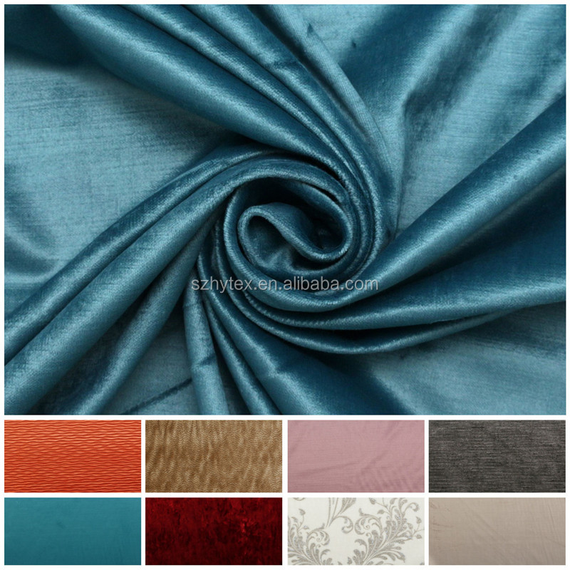 Soft Plain Luxury Boutique Velvet Seating Curtains Cushion Upholstery Fabric
