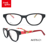 AV376 Vintage Lady Colorful Optical Rimless