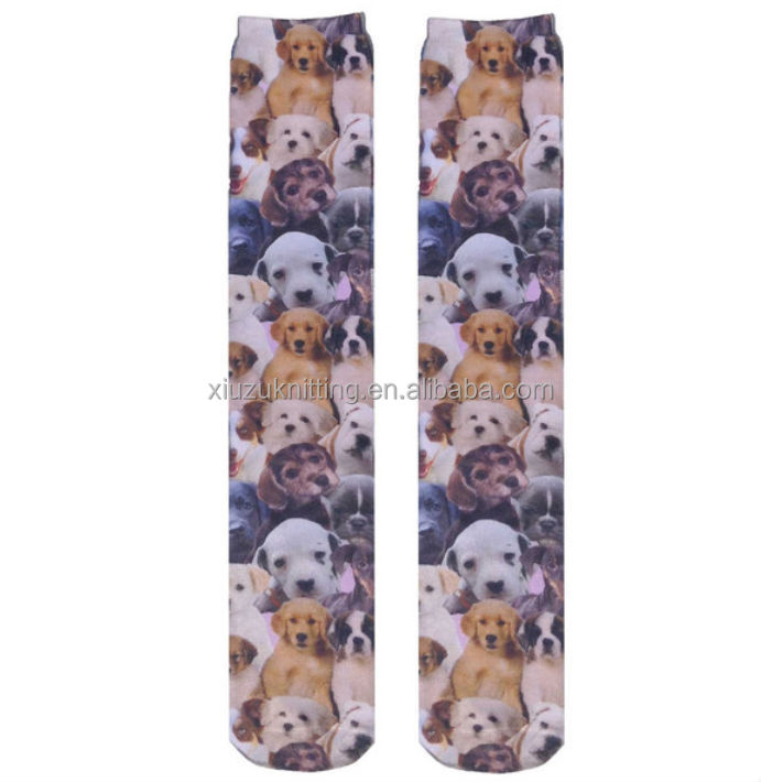 Wholesale Fashion Christmas Printing Dogs Whole Sock