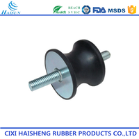Cixi customized auto parts black rubber vibration dampers