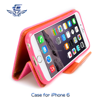China manufacture for iphone 6 6s case , for apple 6s plus wallet handset cover