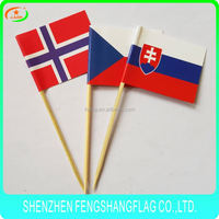Wooden or bamboo toothpicks customized shape toothpick flags for Kenya new brand